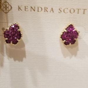 NWT Kendra Scott Drusy Tessa Stud Earrings Pink